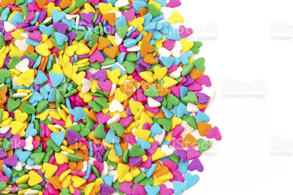 Sugar Sprinkles Hard Shape royalty-free stock photo
