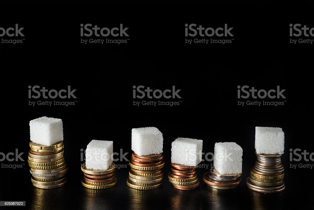 Sugar tax stock photo