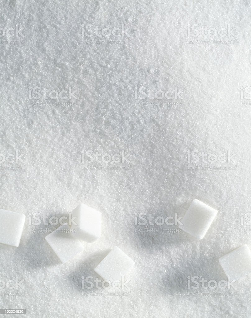 Sugar texture with cubes stock photo