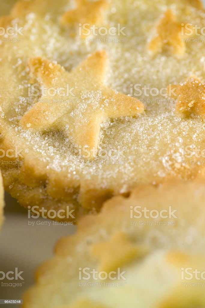 Sugar topped small fruit pie, close up stock photo
