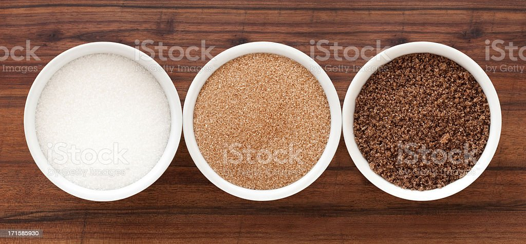 Sugar varieties stock photo