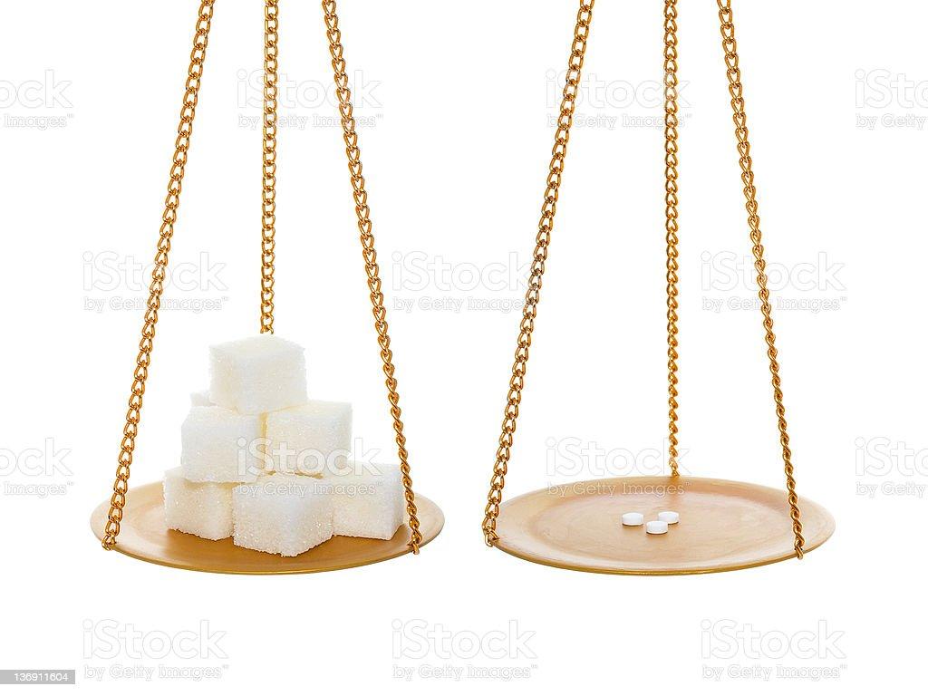 Sugar vs Sweetener royalty-free stock photo
