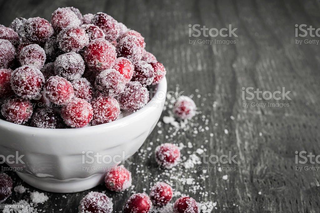 Sugared cranberries stock photo