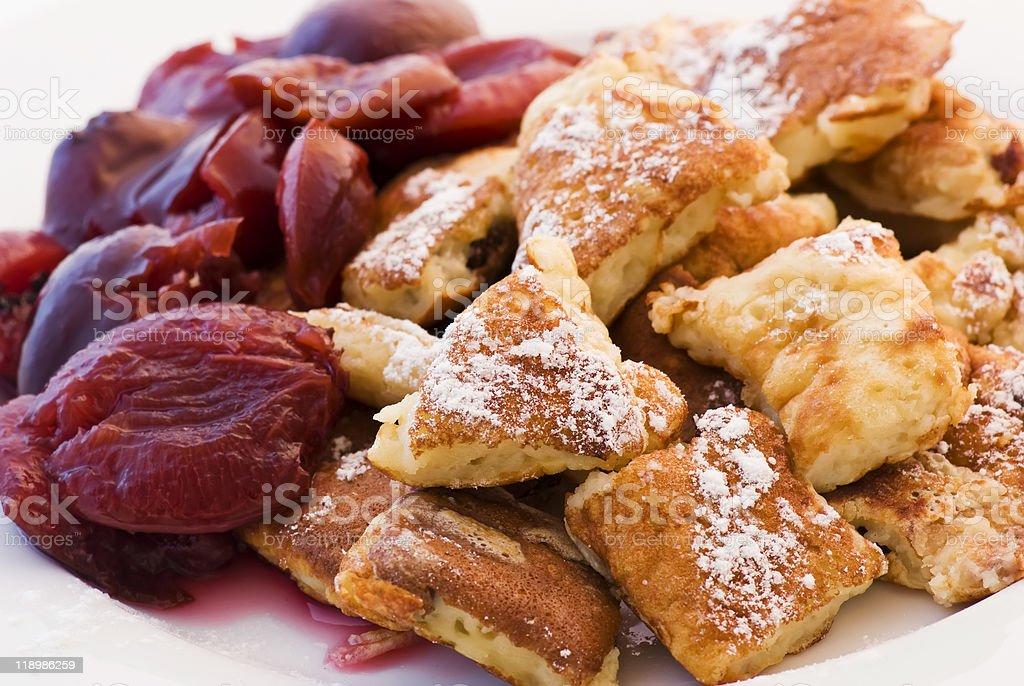 Sugared Cut-Up Pancake stock photo