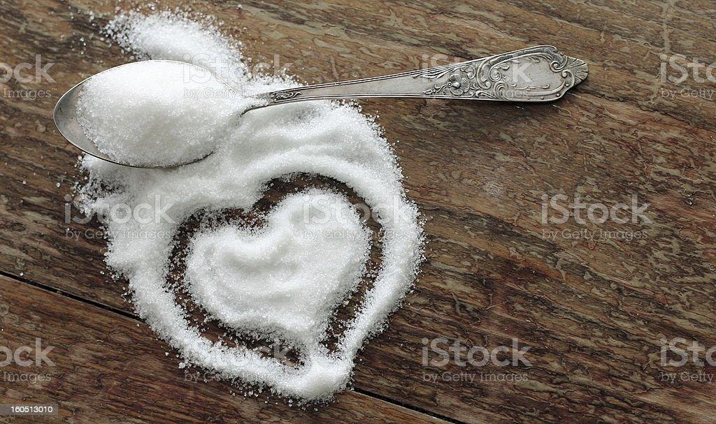 sugar-heart stock photo