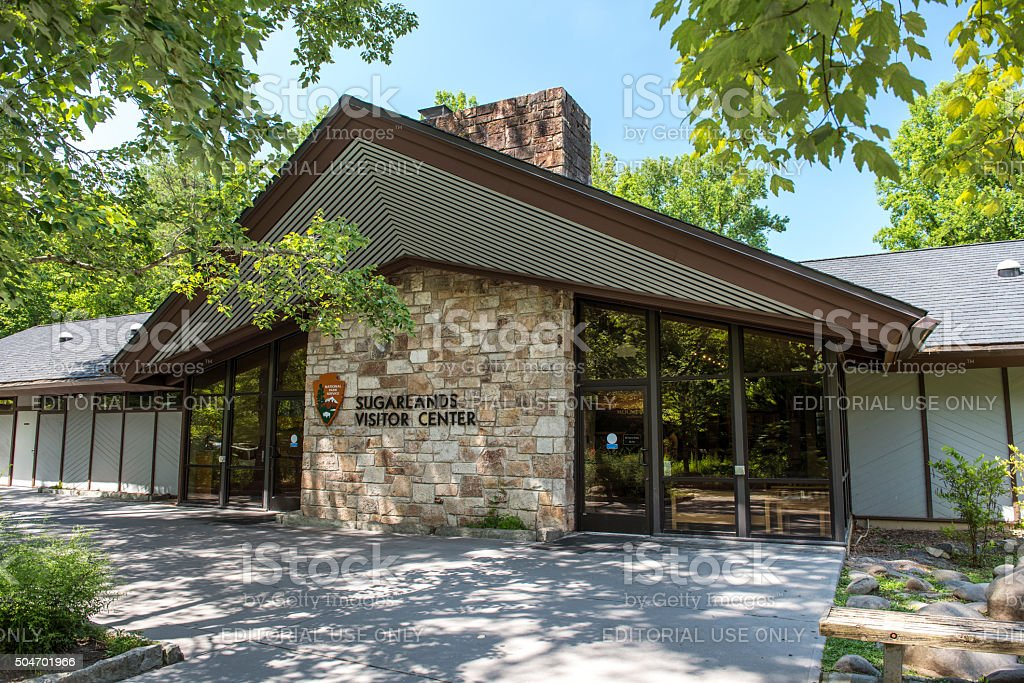Sugarlands Visitor Center in Great Smoky Mountains National Park stock photo