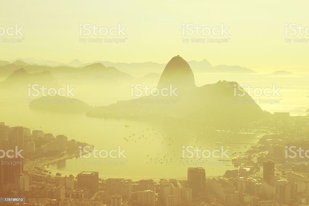 Sugarloaf and Botafogo Beach in Rio royalty-free stock photo