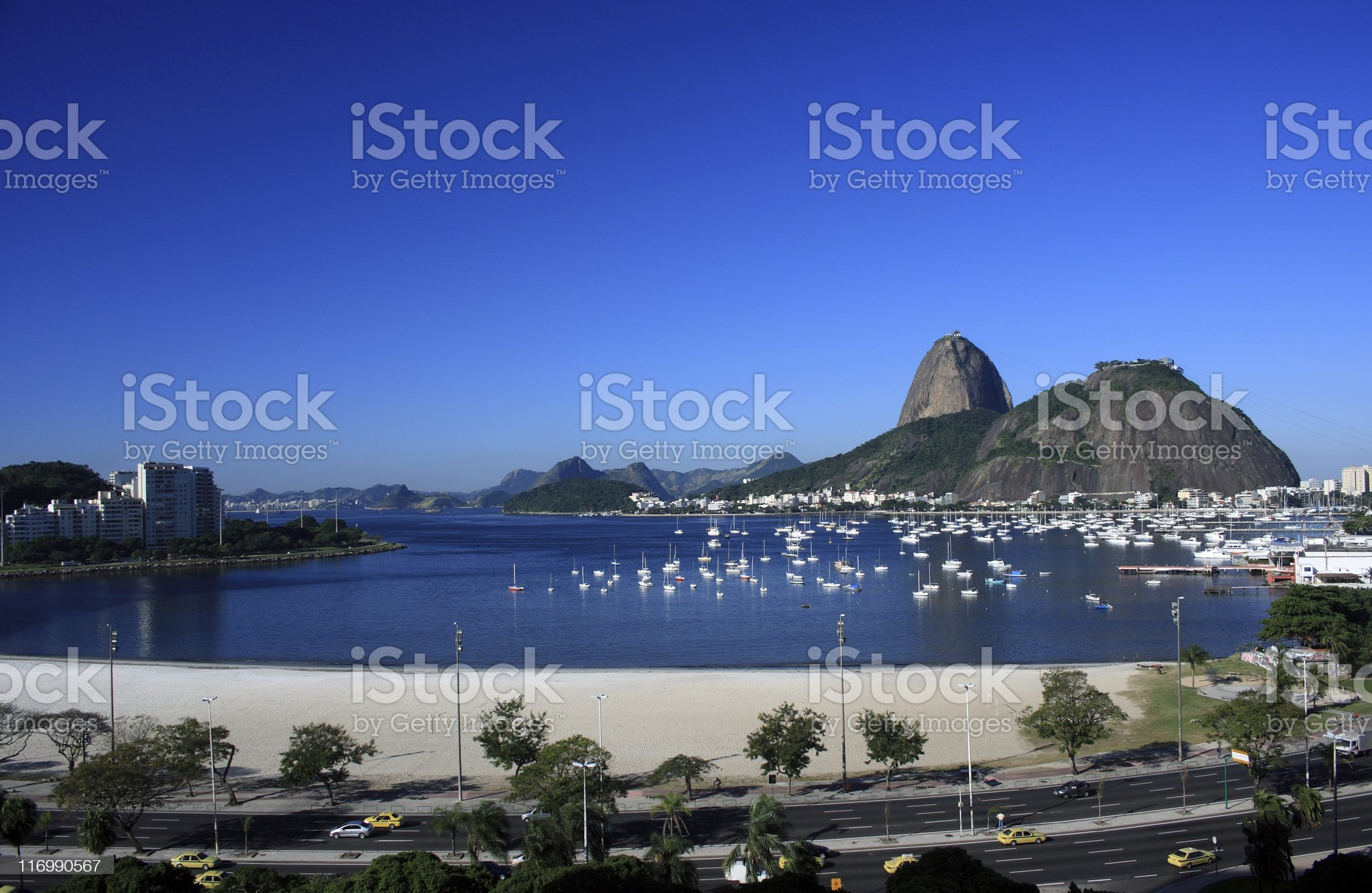 Sugarloaf and Botafogo Beach royalty-free stock photo