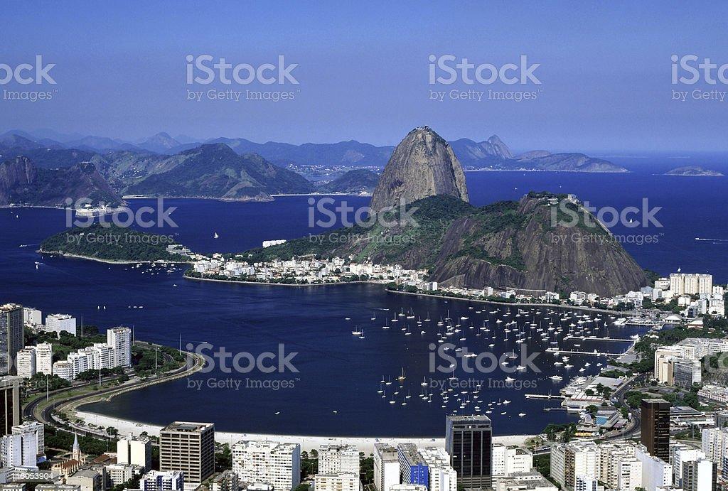 Sugarloaf and Botafogo Beach - Rio de Janeiro royalty-free stock photo