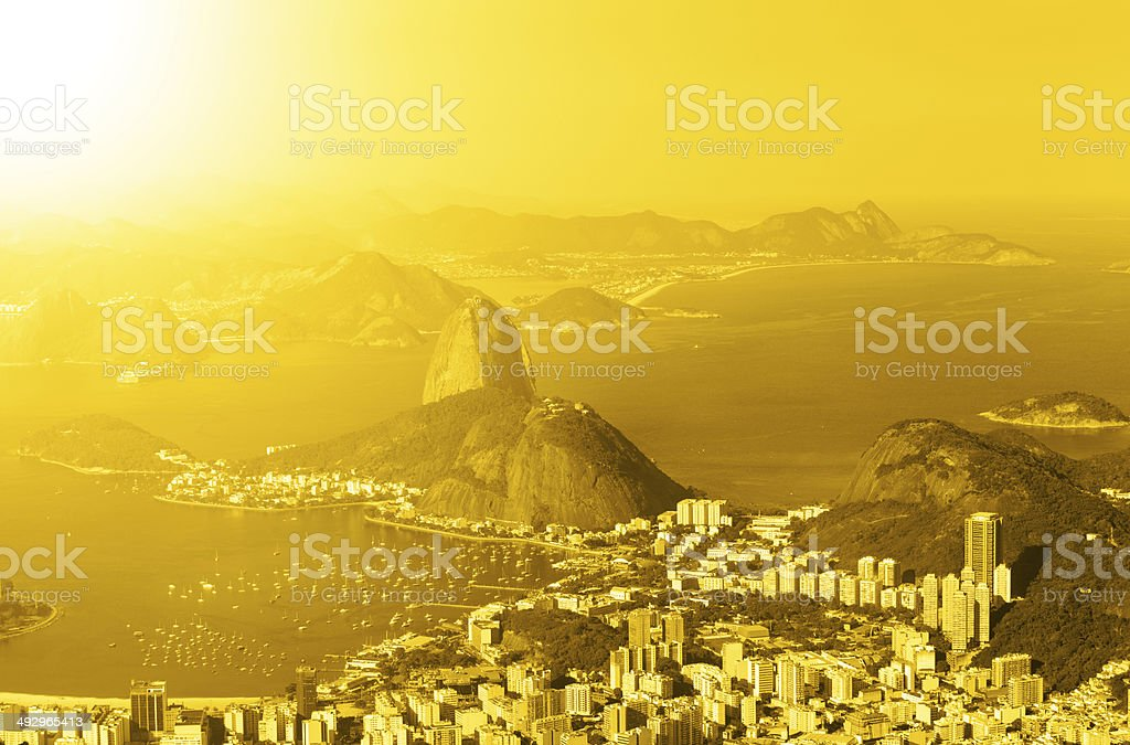 Sugarloaf and Botafogo district royalty-free stock photo