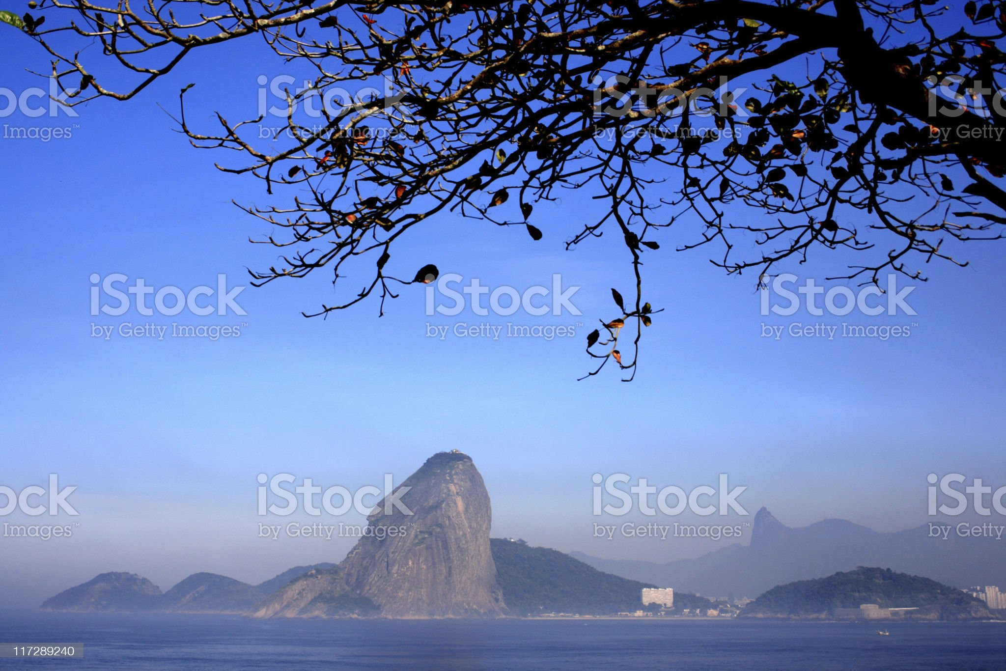 Sugarloaf and Corcovado mountains royalty-free stock photo