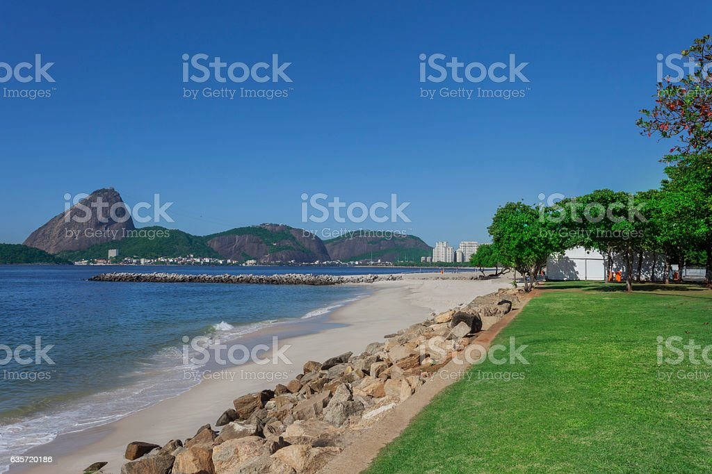 Sugarloaf and Flamengo Park stock photo