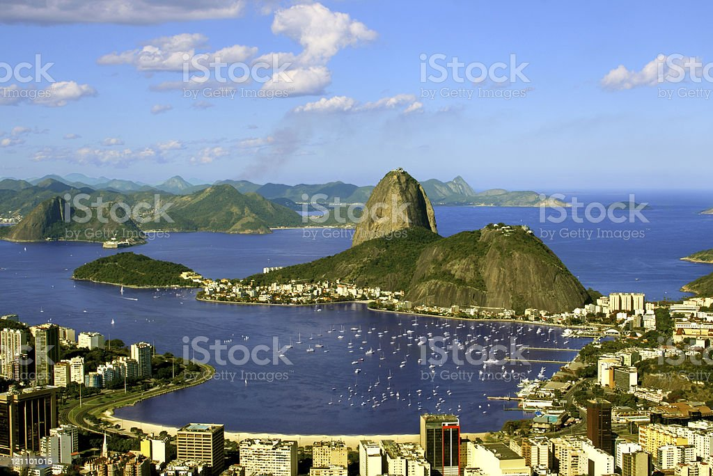 Sugarloaf and Guanabara Bay royalty-free stock photo