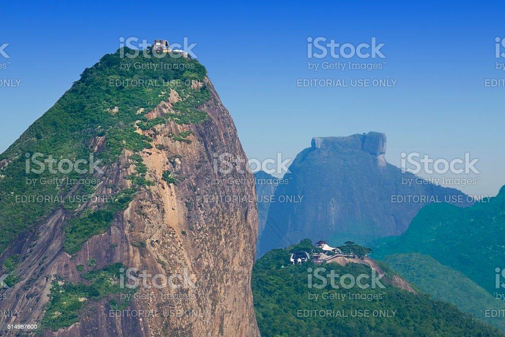 Sugarloaf and Pedra da Gavea in Rio de Janeiro stock photo