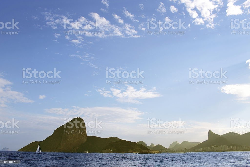 Sugarloaf and Rio de Janeiro´s mountains royalty-free stock photo