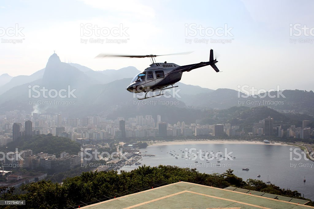 Sugarloaf - arriving by helicopter royalty-free stock photo