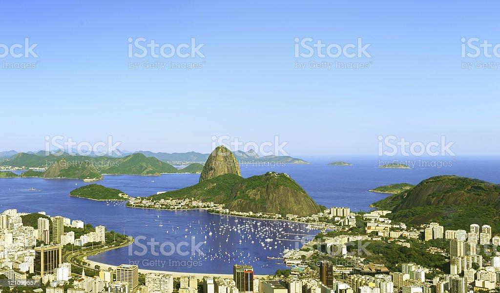 Sugarloaf in Rio de Janeiro - panorama royalty-free stock photo
