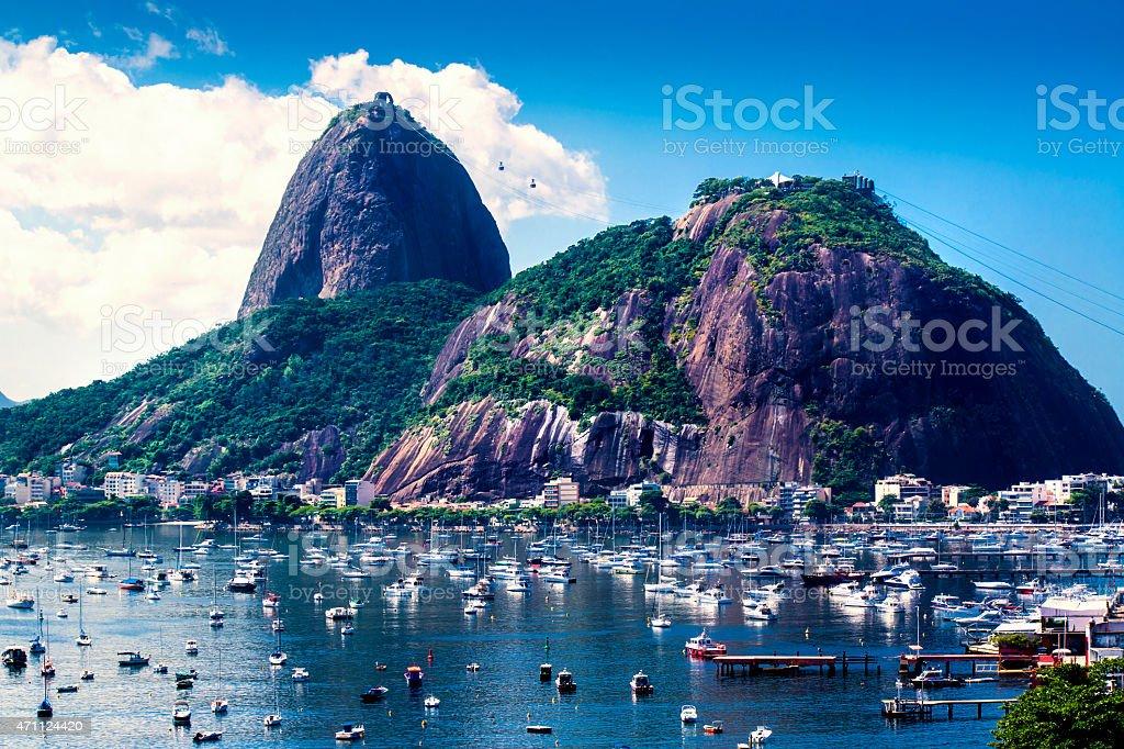 Sugarloaf Mountain at Rio de Janeiro stock photo