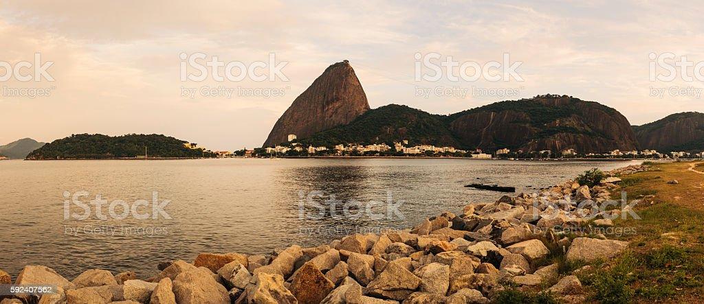 Sugarloaf Mountain from Flamengo Park, Rio de Janeiro stock photo
