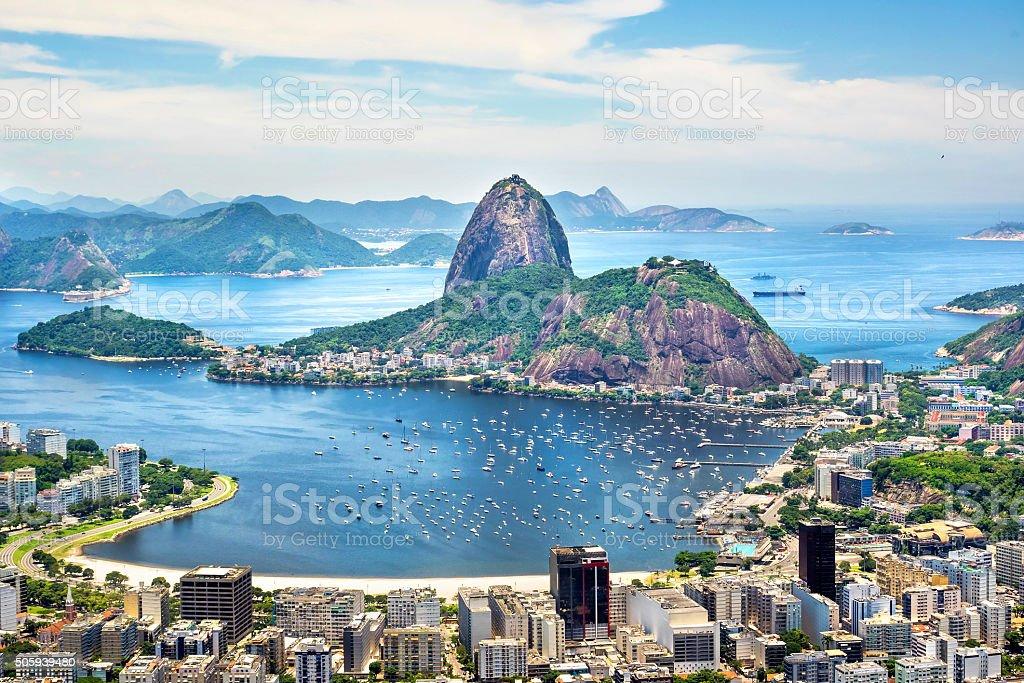 Sugarloaf Mountain in Rio de Janeiro, Brazil stock photo