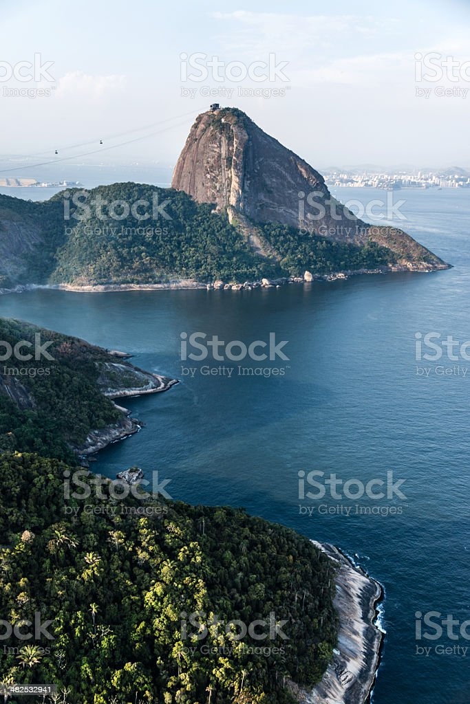 Sugarloaf Mountain in Rio royalty-free stock photo