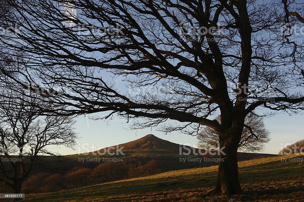 Sugarloaf mountain, near Abergavenny stock photo