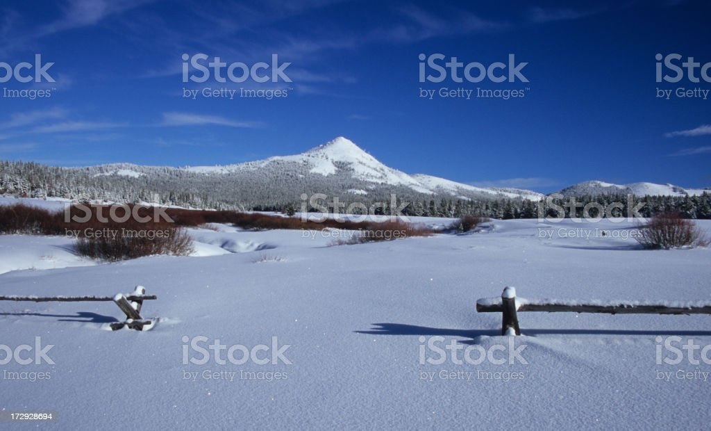 Sugarloaf Mountain on the Continental Divide royalty-free stock photo