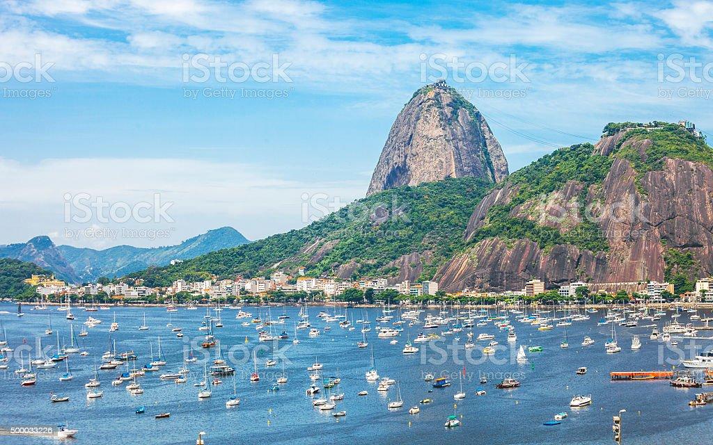Sugarloaf mountain, Rio De Janiero. stock photo