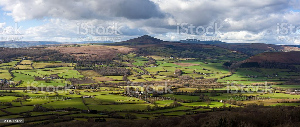 Sugarloaf Mountain Wales stock photo
