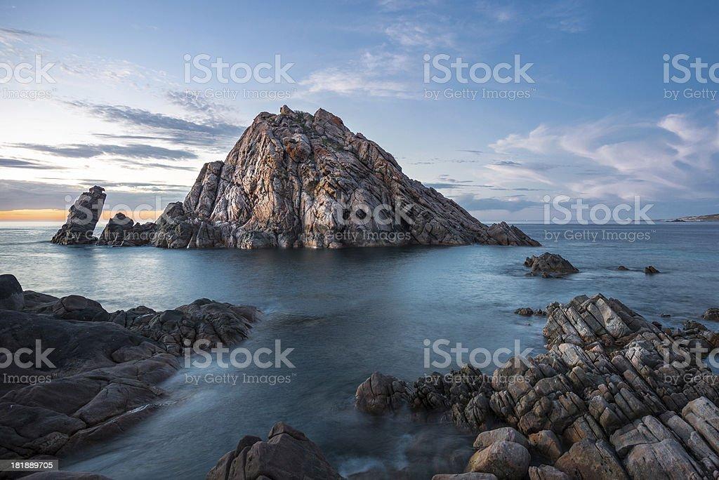 Sugarloaf Rock, Cape Naturaliste, Western Australia royalty-free stock photo