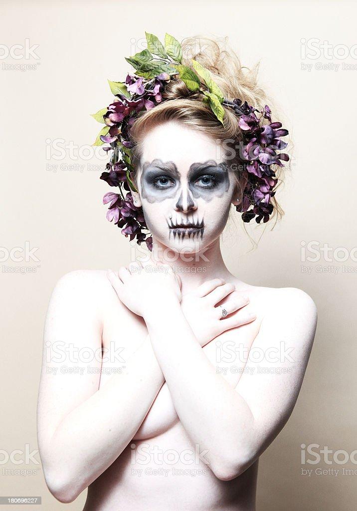 sugarskull beauty royalty-free stock photo