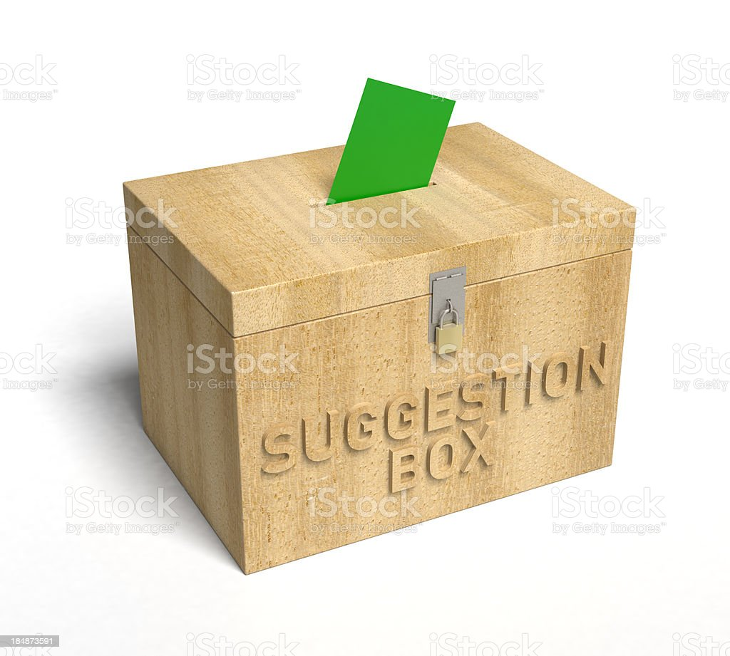 Suggestion Box royalty-free stock photo