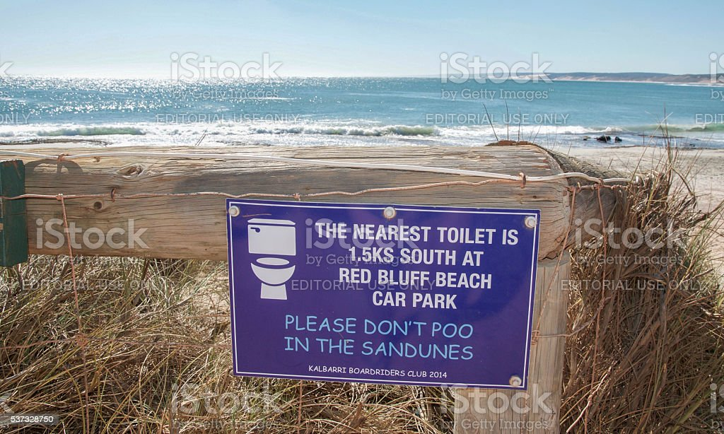 Suggestions: Beach Sign stock photo