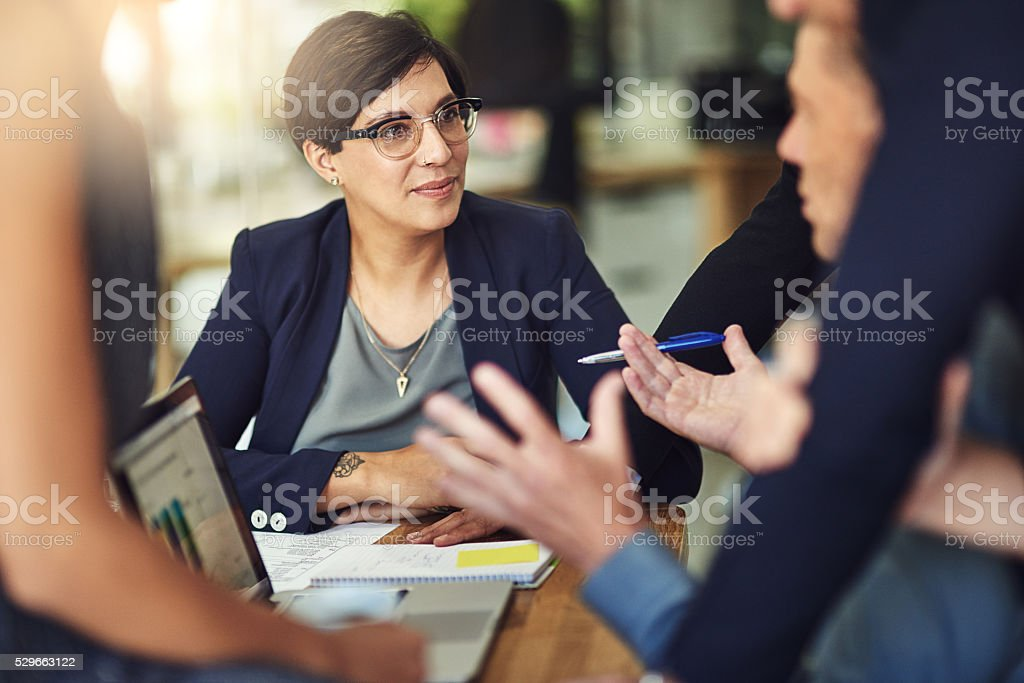 Suggestions should be invited from one and all stock photo