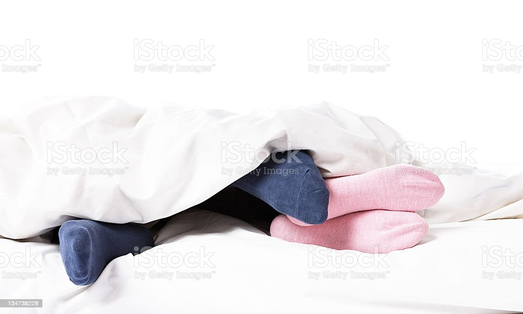 Suggestive nudge royalty-free stock photo