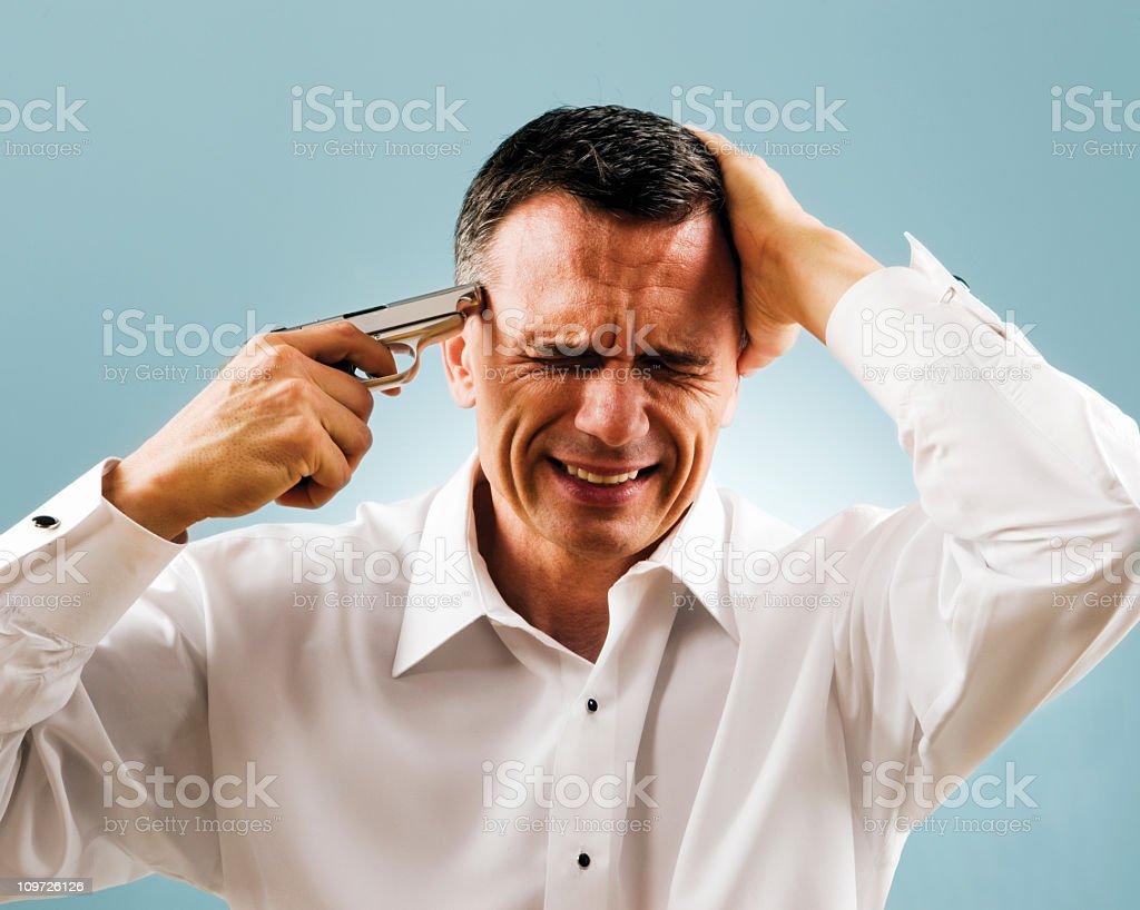 Suicidal Man royalty-free stock photo