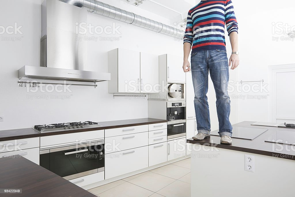Suicidal Tendencies in the Kitchen royalty-free stock photo