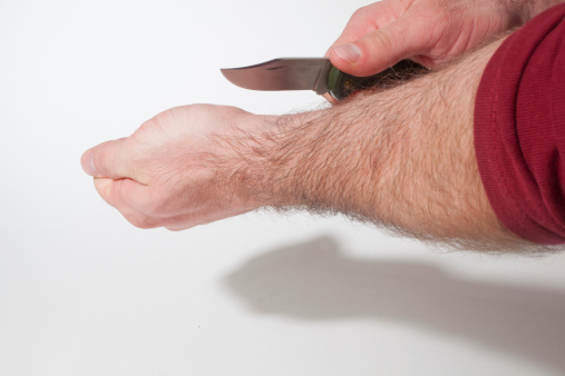 Suicide Wrist Cutting Pictures, Images and Stock Photos ...