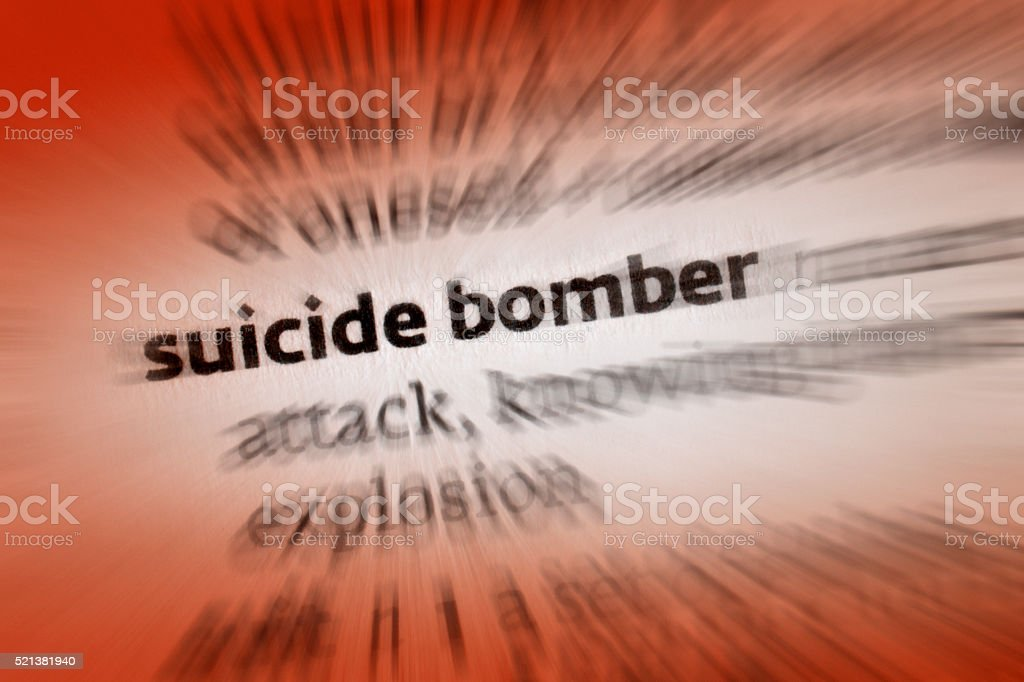 Suicide Bomber stock photo