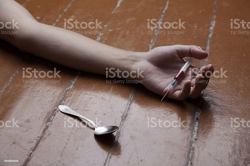Suicide by drugs royalty-free stock photo