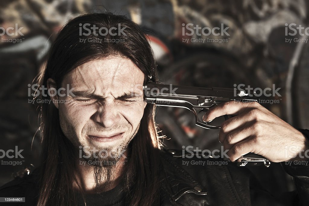 Suicide stock photo