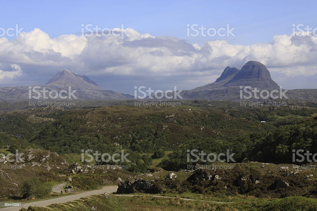 Suilven and Canisp mountains, Assynt, Sutherland, Scotland royalty-free stock photo