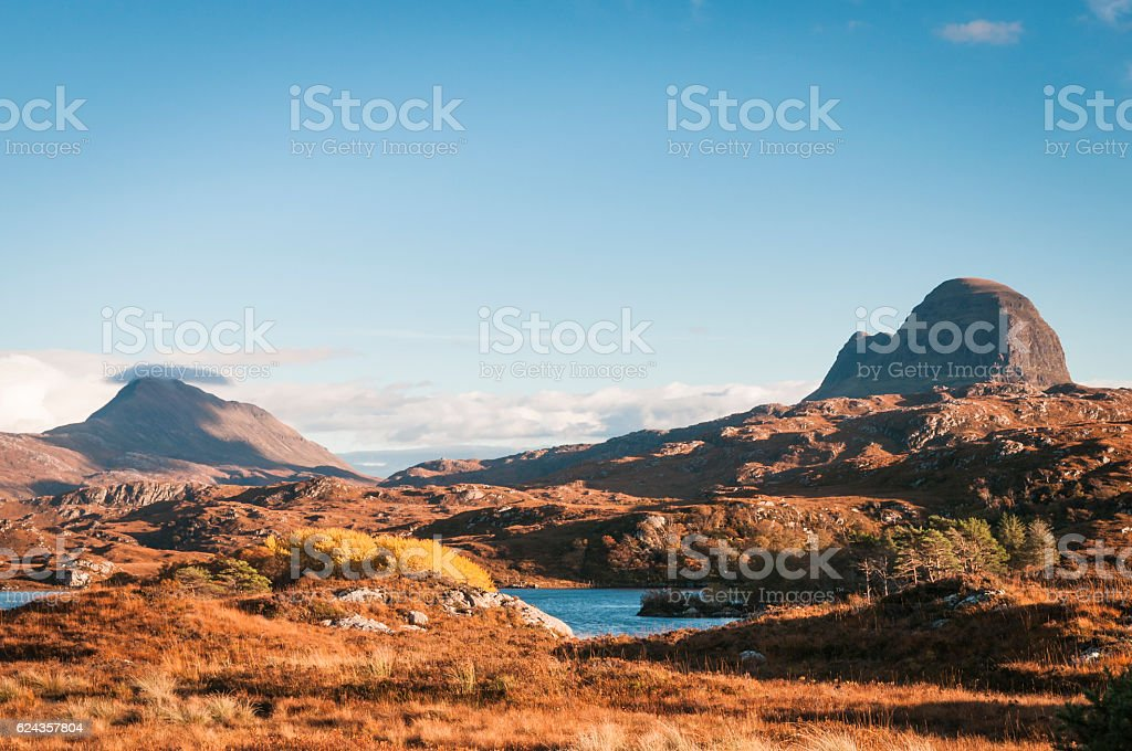 Suilven and Canisp stock photo