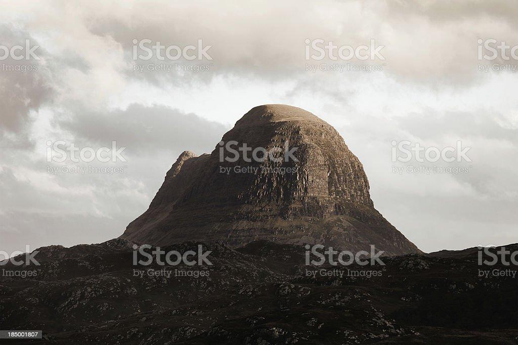 Suilven Mountain stock photo