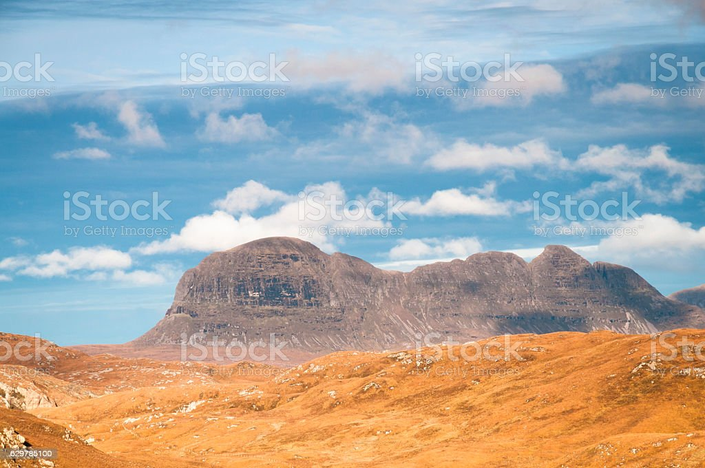 Suilven, Scotland stock photo