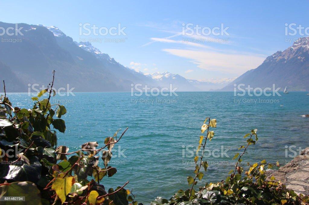 Suisse, lac de Brienz stock photo
