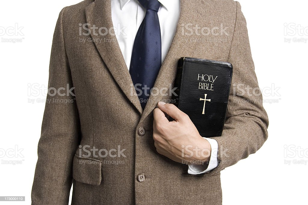 Suit and Bible stock photo