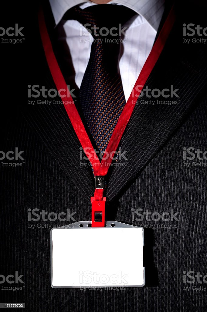 Suit and ID Card royalty-free stock photo
