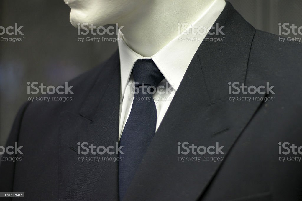 Suit and tie, detail stock photo