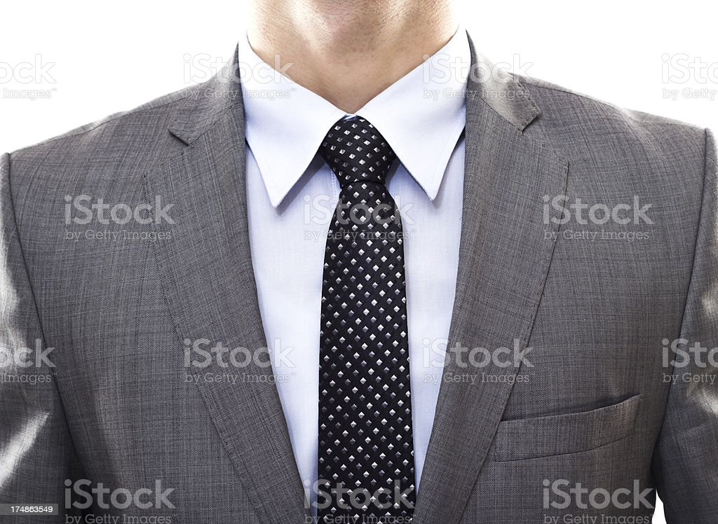 Suit and tie royalty-free stock photo